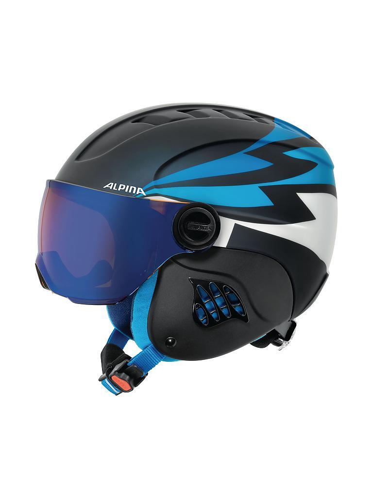 alpina kinder helm carat le visor hm blau 51 55cm. Black Bedroom Furniture Sets. Home Design Ideas