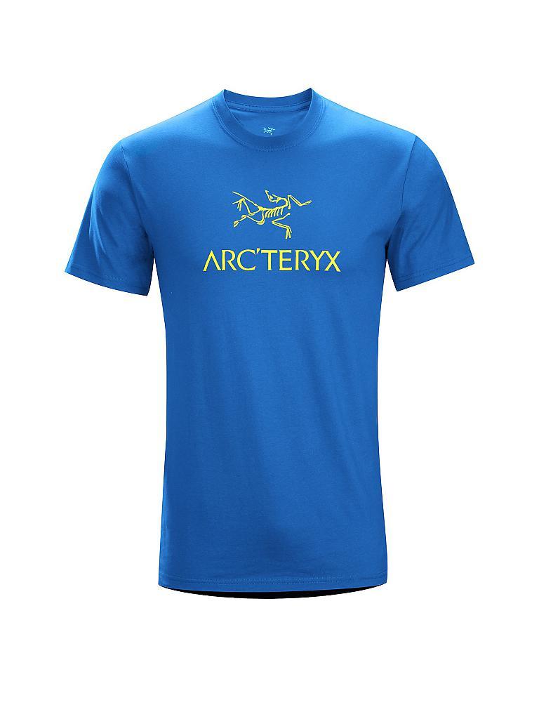 Arcteryx herren t shirt arc word blau s for Arcteryx arc word t shirt