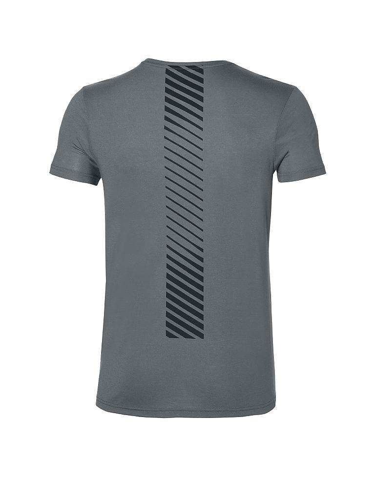 asics herren fitness shirt essential dbl gpx grau s. Black Bedroom Furniture Sets. Home Design Ideas