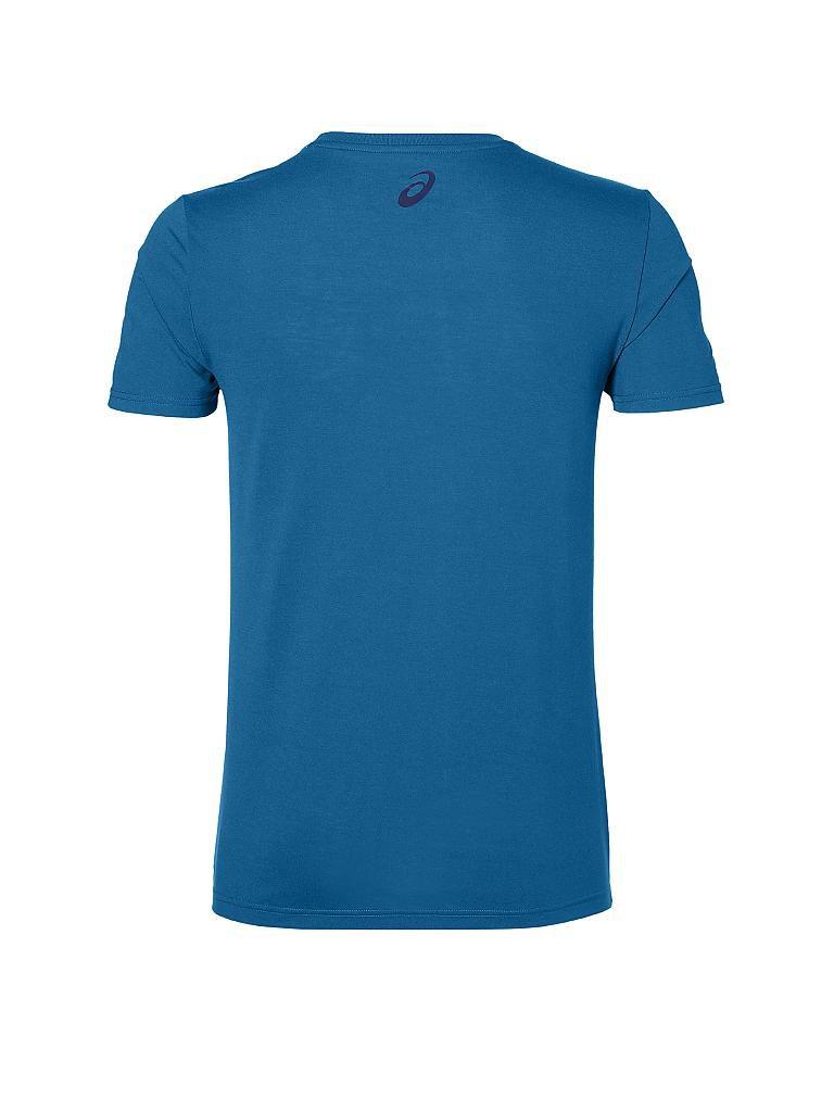 asics herren fitness shirt zatoichi blau s. Black Bedroom Furniture Sets. Home Design Ideas