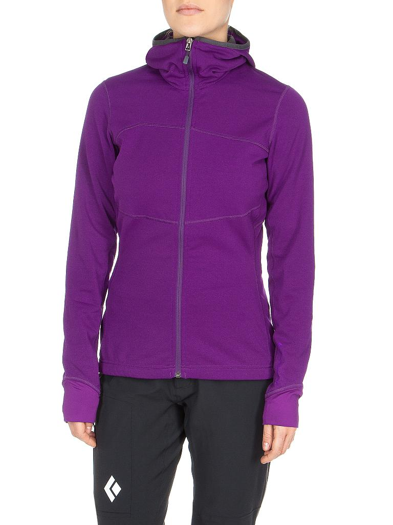 BLACK DIAMOND | Damen Fleecejacke Coefficient Hoody | lila