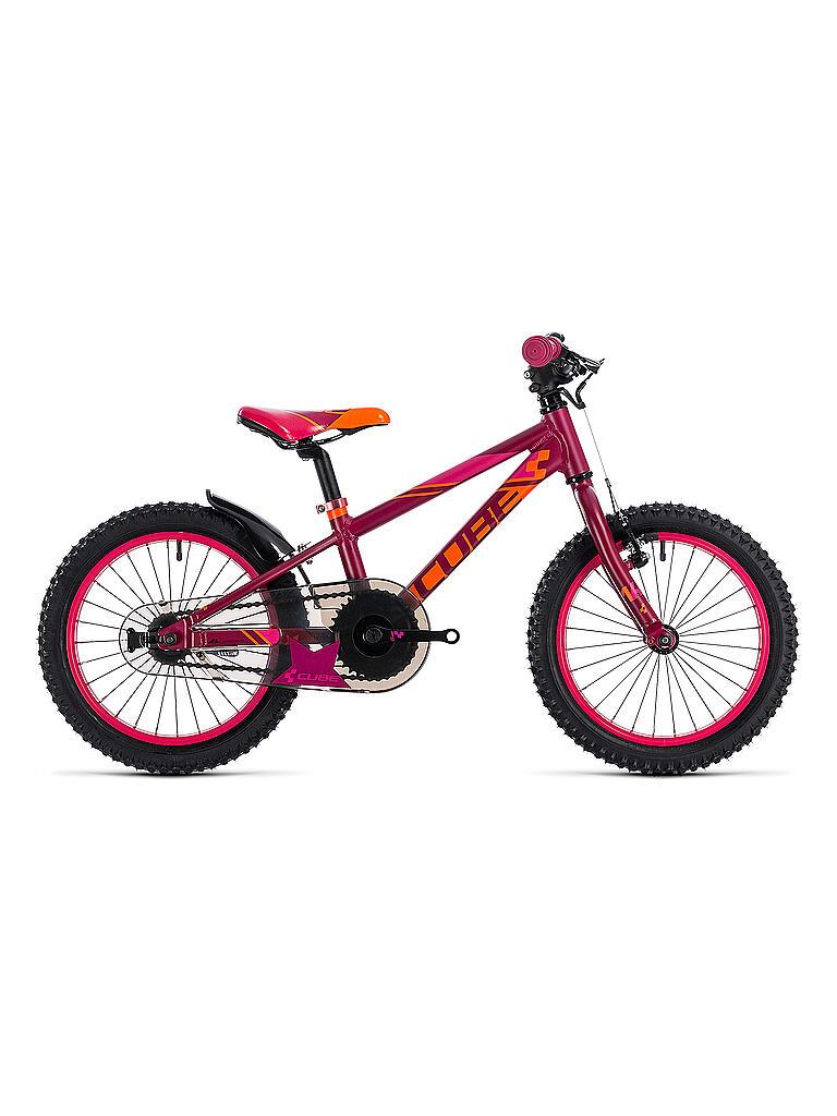 cube kinder fahrrad 16 kid 160 girl 2018 pink. Black Bedroom Furniture Sets. Home Design Ideas