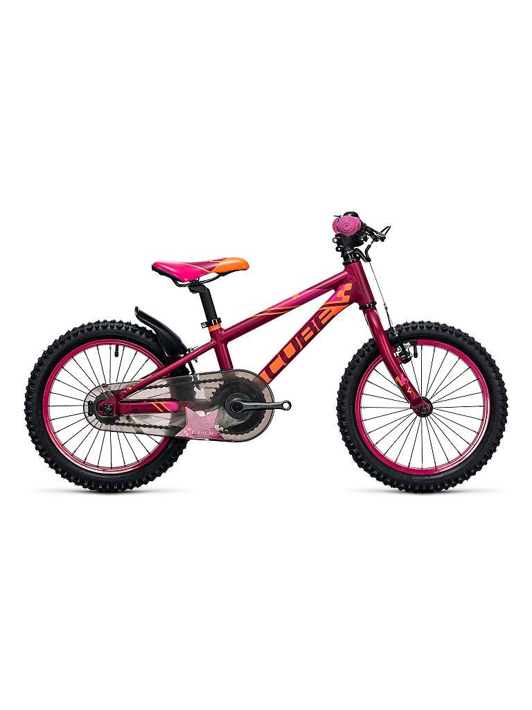 cube kinder fahrrad 16 kid 160 girl rot. Black Bedroom Furniture Sets. Home Design Ideas