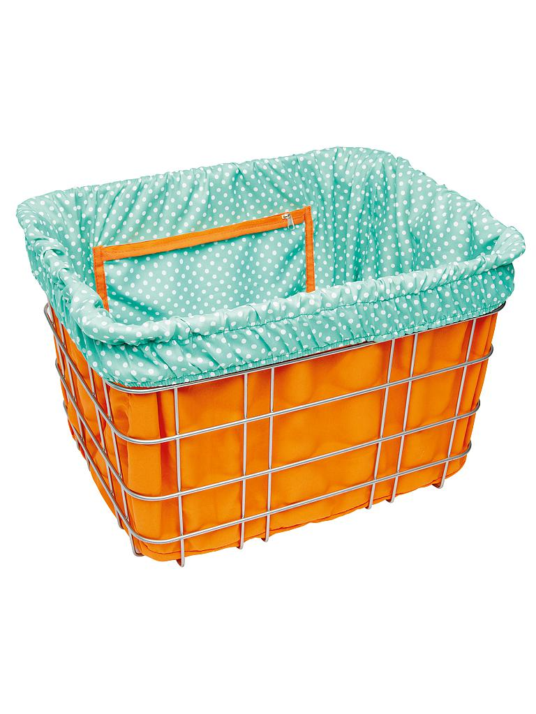 ELECTRA | Korbbeutel Basket Liner Polka Dots Orange/Blue | orange