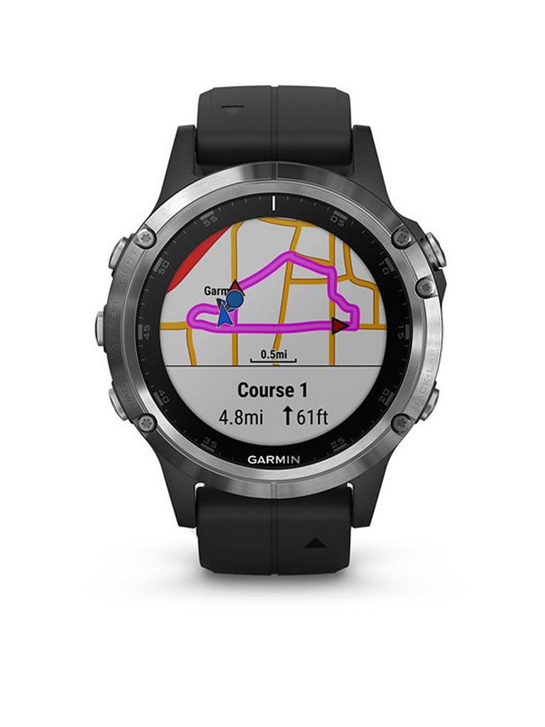 garmin gps sportuhr fenix 5 plus schwarz. Black Bedroom Furniture Sets. Home Design Ideas