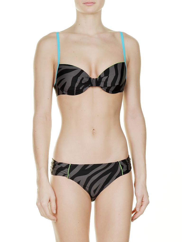 hot stuff damen bikini animal schwarz 36b. Black Bedroom Furniture Sets. Home Design Ideas