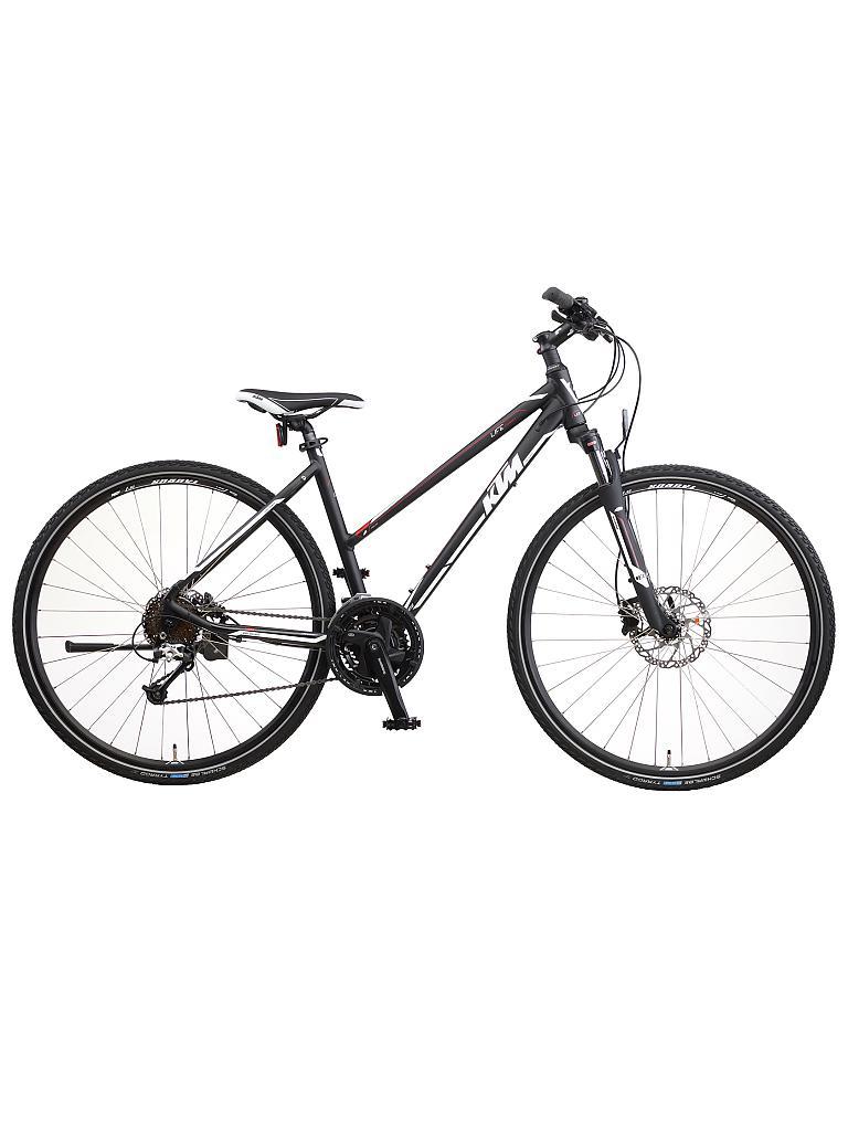 ktm damen crosstrekking bike life country schwarz 46cm. Black Bedroom Furniture Sets. Home Design Ideas