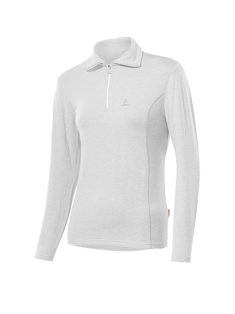 LÖFFLER | Damen TRANSTEX® Zip-Rolli Basic | weiß