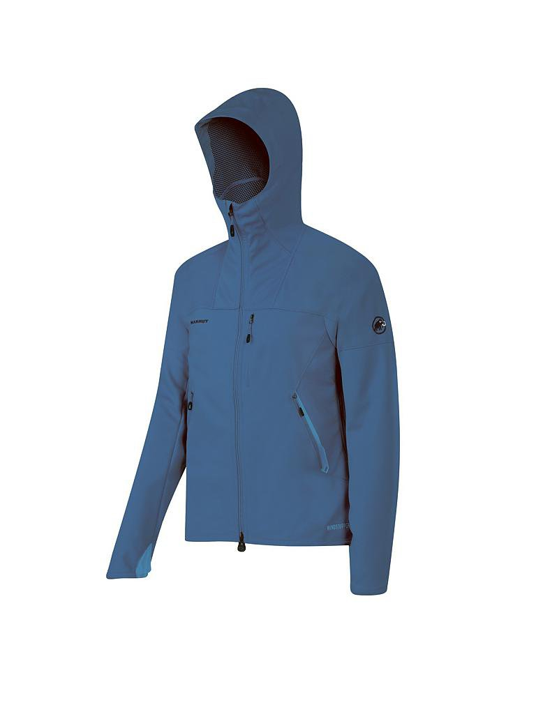 mammut herren softshelljacke ulitmate light hoody blau s. Black Bedroom Furniture Sets. Home Design Ideas