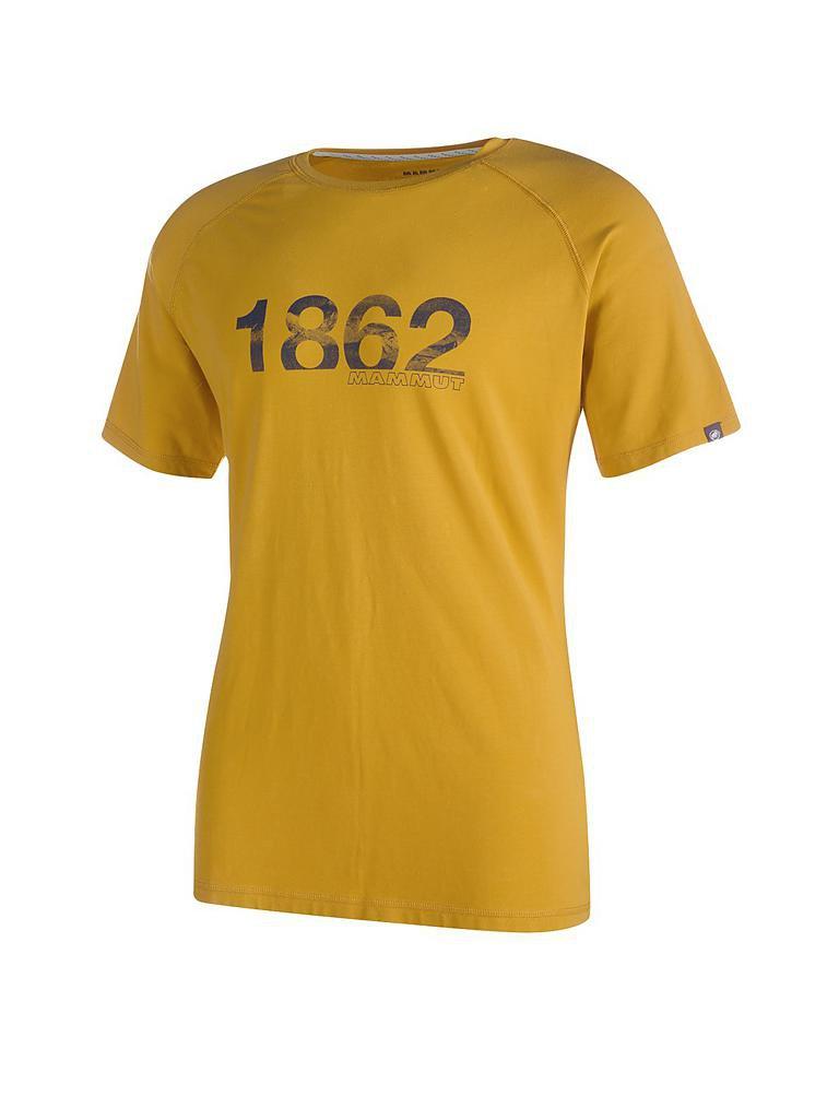 mammut herren t shirt vintage gelb s. Black Bedroom Furniture Sets. Home Design Ideas