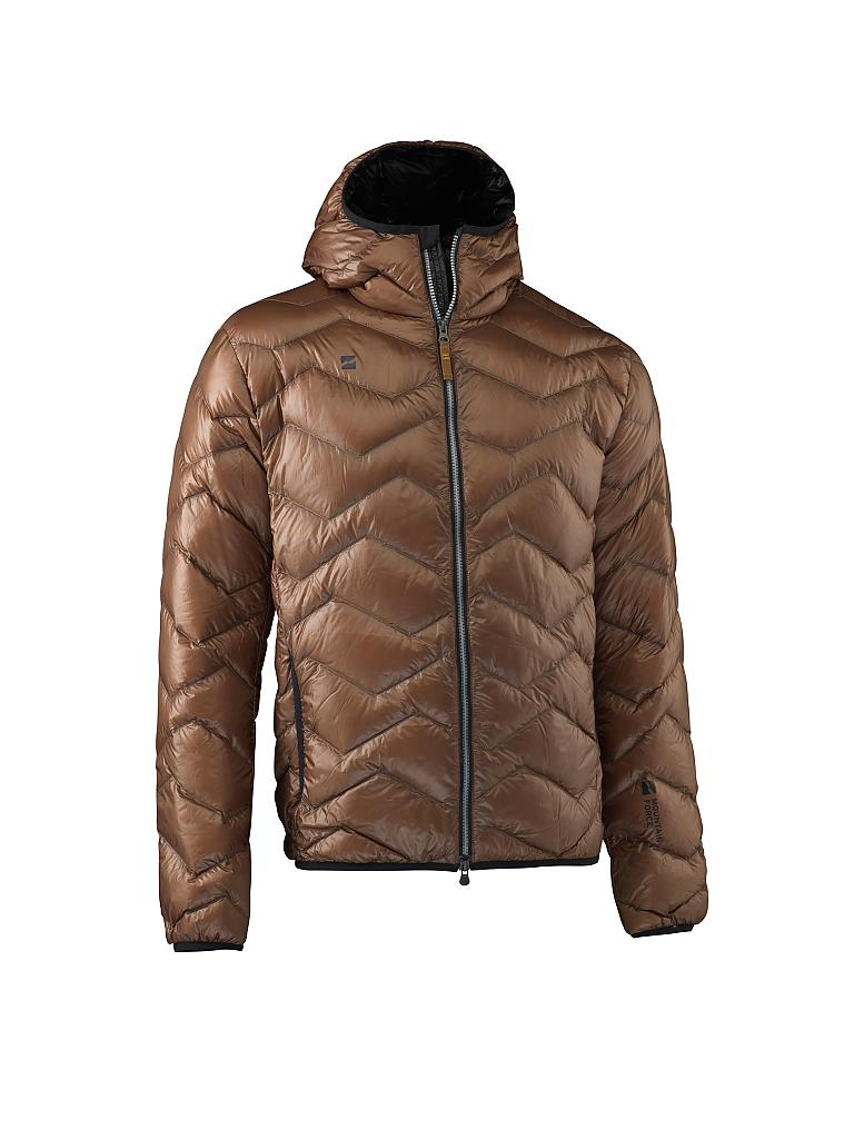 MOUNTAIN FORCE | Herren Daunenjacke Down Hooded | braun