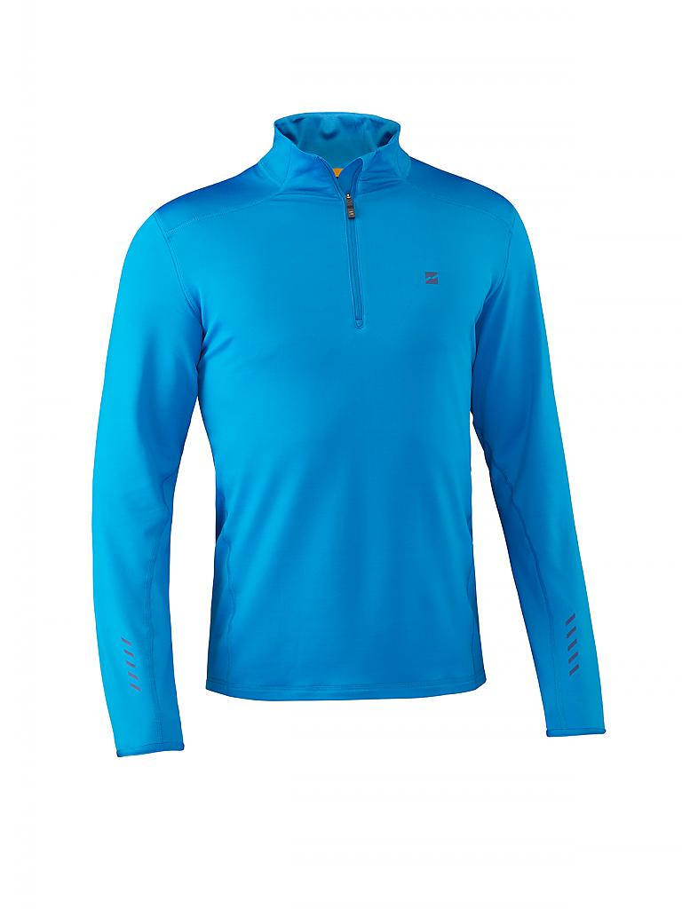 MOUNTAIN FORCE | Herren Ski-Funktionsshirt Grid | blau