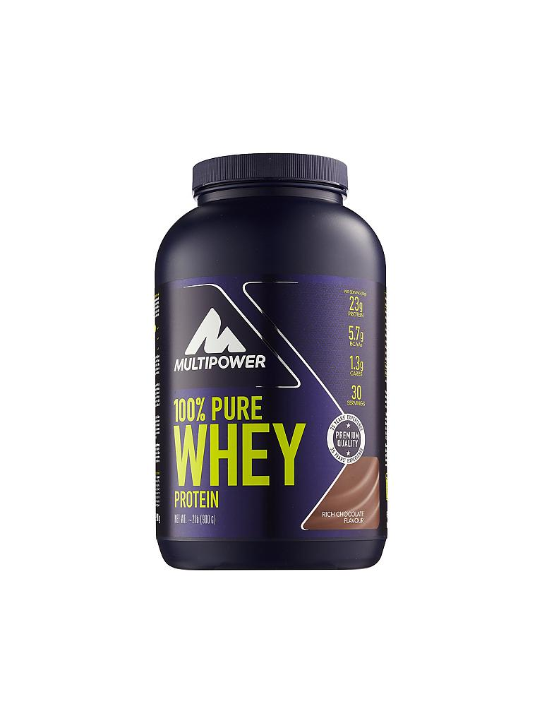 MULTIPOWER | Proteinpulver 100% Pure Whey Protein 900g Rich Chocolate | braun