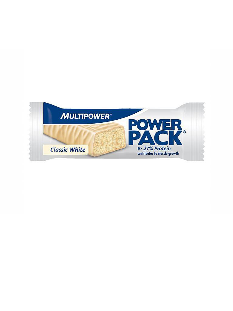 MULTIPOWER | Proteinriegel Power Pack® Classic White 35g | weiß