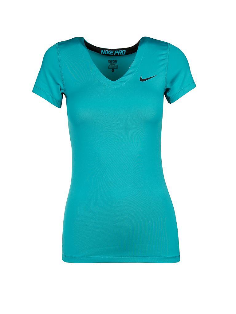 nike damen fitness shirt pro ss v neck t rkis xs. Black Bedroom Furniture Sets. Home Design Ideas