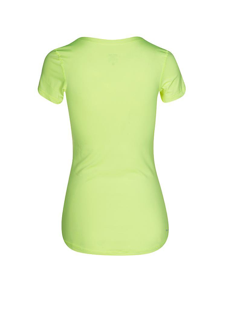 NIKE | Damen Fitness-Shirt Pro SS V-Neck | gelb