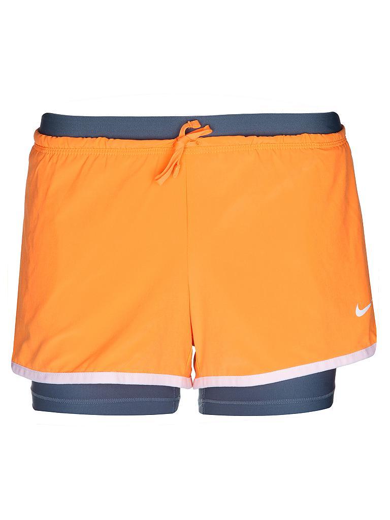 nike damen fitness short orange xs. Black Bedroom Furniture Sets. Home Design Ideas