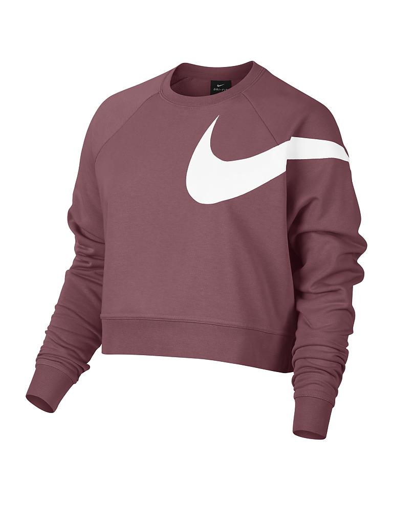 nike damen fitness sweater dry versa rosa l. Black Bedroom Furniture Sets. Home Design Ideas
