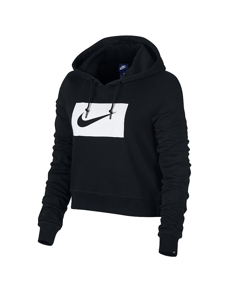 nike damen hoodie nike sportswear swoosh schwarz s. Black Bedroom Furniture Sets. Home Design Ideas