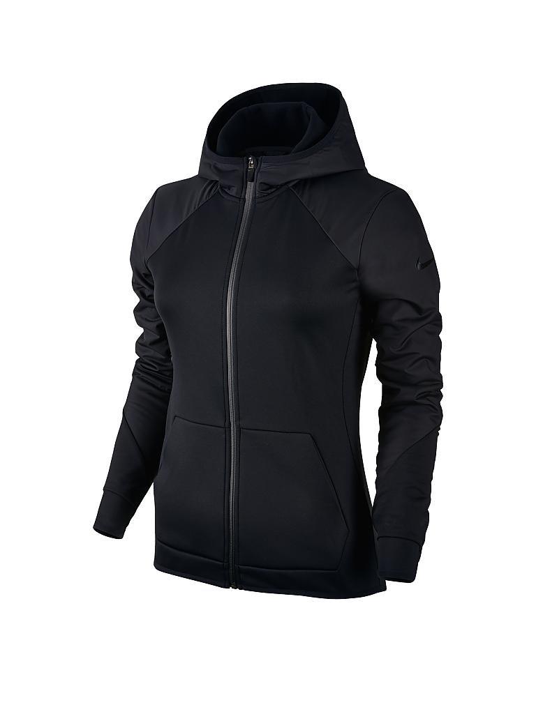 nike damen kapuzenjacke therma hoodie fz overlay schwarz xs. Black Bedroom Furniture Sets. Home Design Ideas