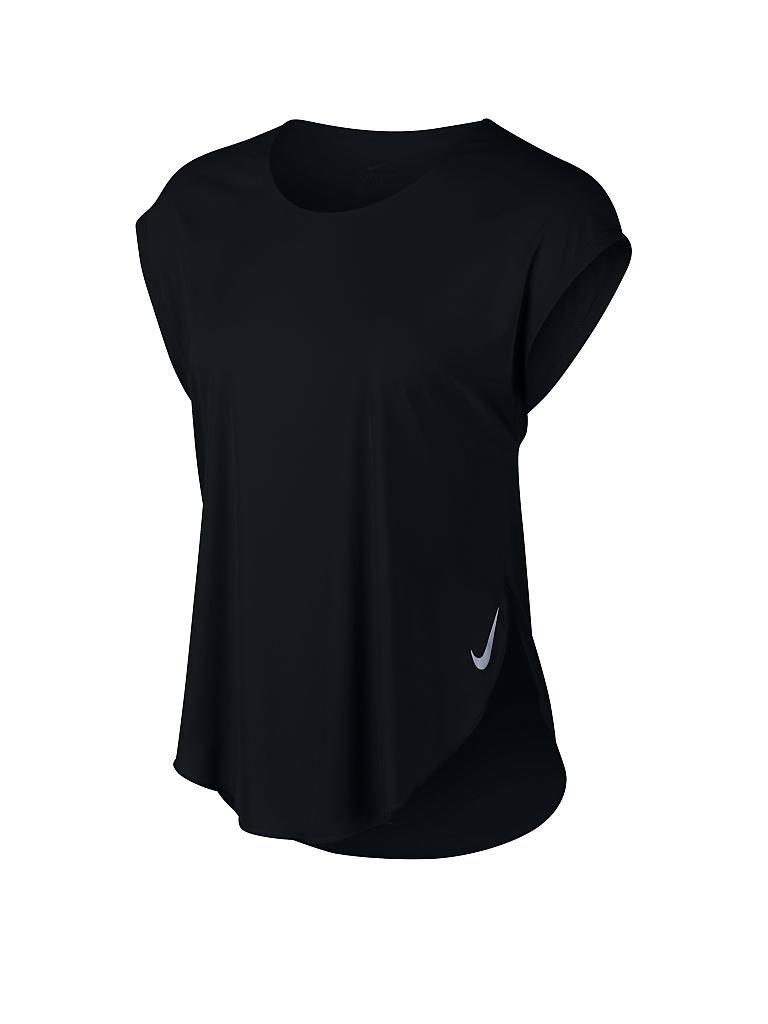 NIKE | Damen Laufshirt City Sleek | schwarz