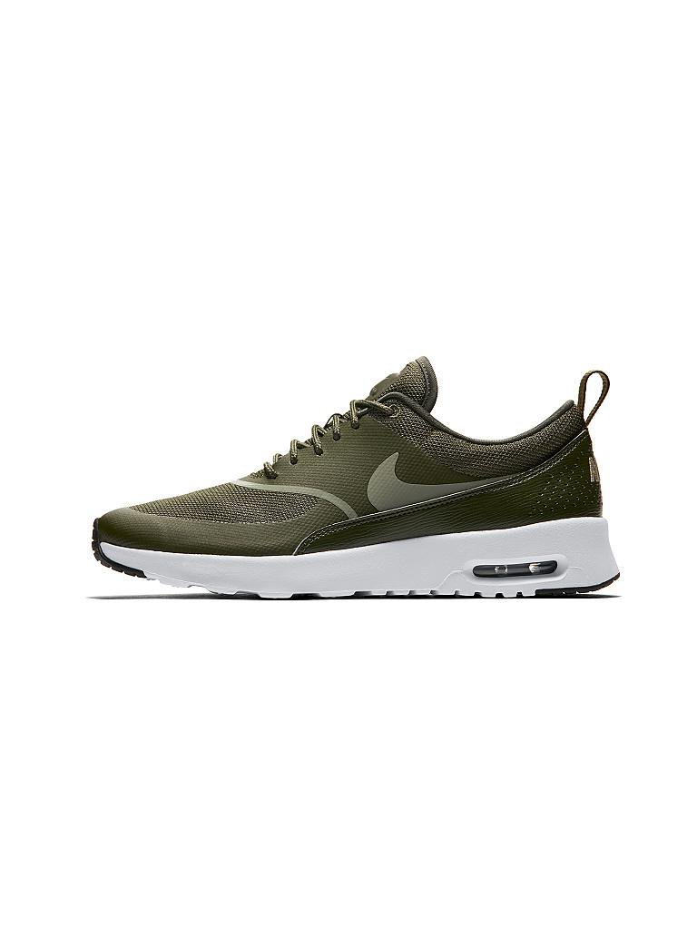 nike damen schuh nike air max thea olive 36 5. Black Bedroom Furniture Sets. Home Design Ideas