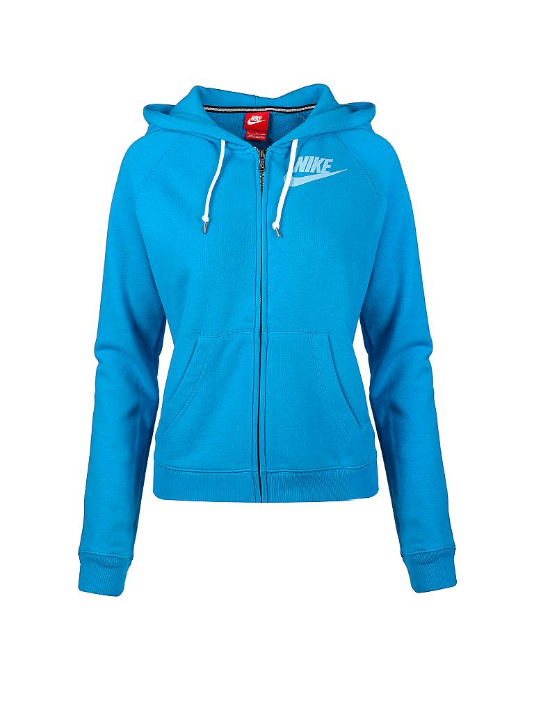 nike damen sweatjacke blau xs. Black Bedroom Furniture Sets. Home Design Ideas