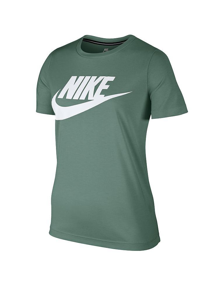 nike damen t shirt essential sportswear gr n xs. Black Bedroom Furniture Sets. Home Design Ideas