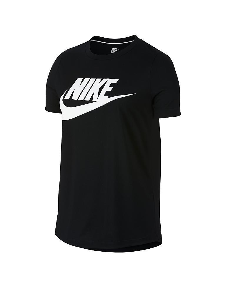 nike damen t shirt sportswear essential schwarz xs. Black Bedroom Furniture Sets. Home Design Ideas