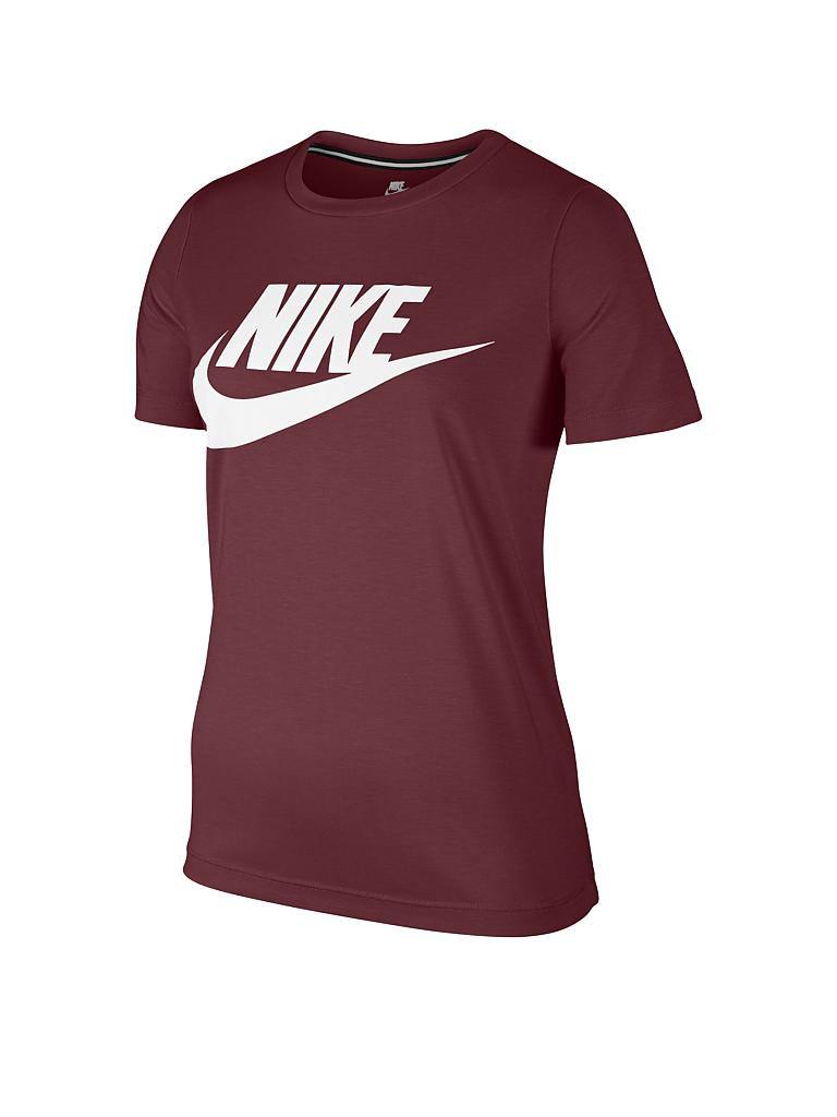 nike damen t shirt sportswear essential rot xs. Black Bedroom Furniture Sets. Home Design Ideas