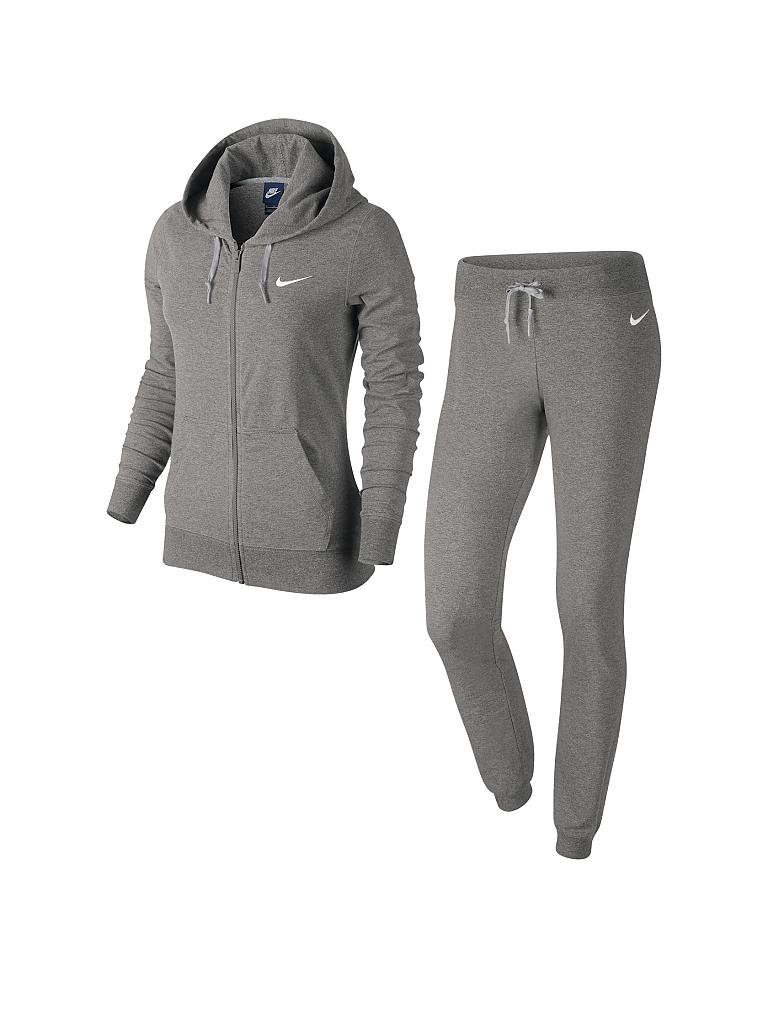 nike damen trainingsanzug jersey cuffed tracksuit grau l. Black Bedroom Furniture Sets. Home Design Ideas