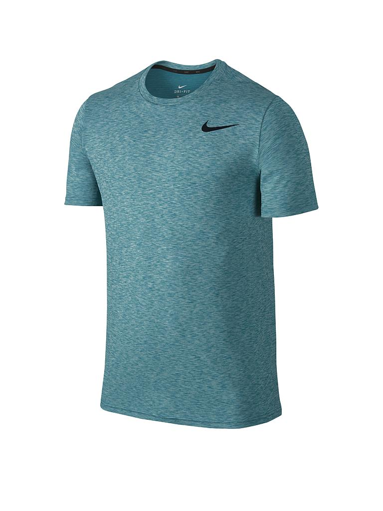 nike herren fitness shirt breathe petrol s. Black Bedroom Furniture Sets. Home Design Ideas