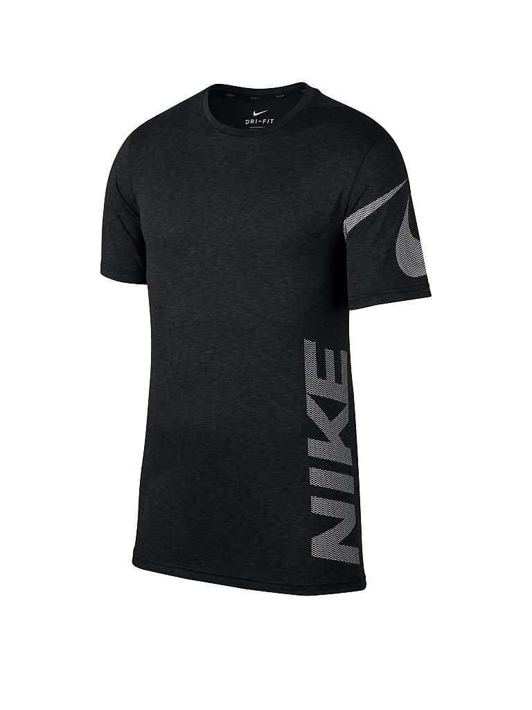 nike herren fitness shirt breathe schwarz s. Black Bedroom Furniture Sets. Home Design Ideas