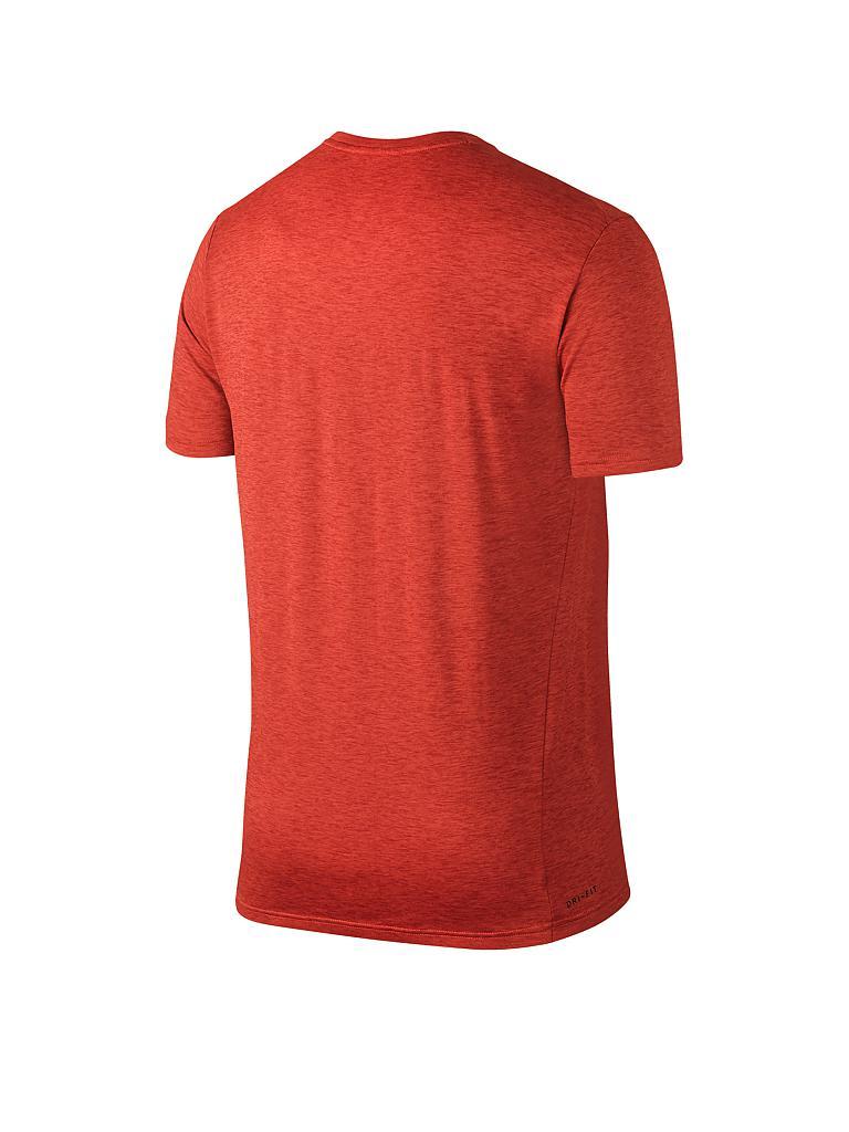 nike herren fitness shirt breathe orange s. Black Bedroom Furniture Sets. Home Design Ideas