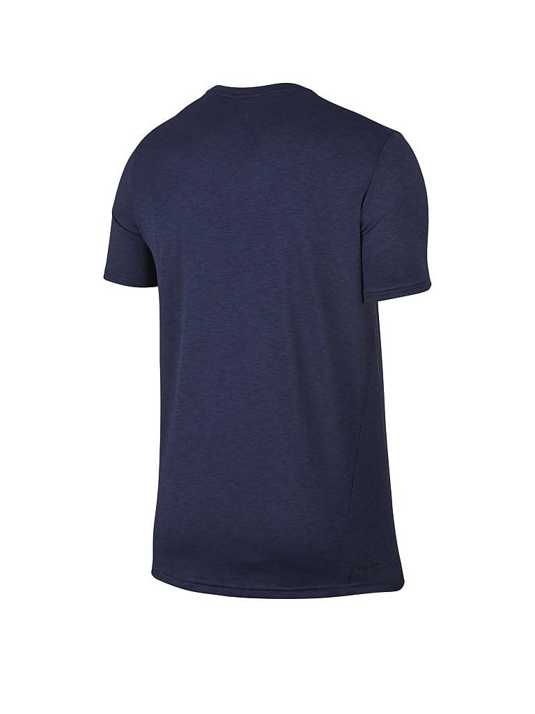 nike herren fitness shirt breathe blau s. Black Bedroom Furniture Sets. Home Design Ideas