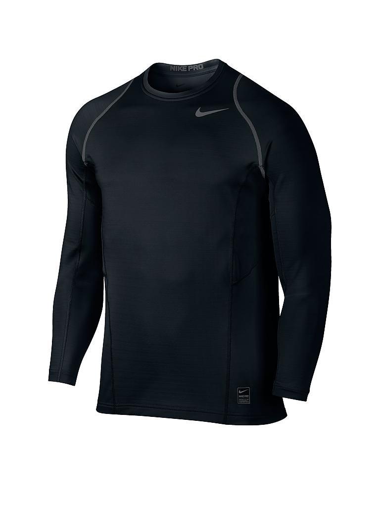 nike herren fitness shirt pro hyperwarm schwarz s. Black Bedroom Furniture Sets. Home Design Ideas