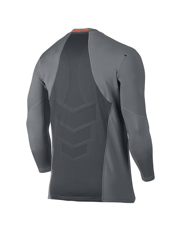 nike herren fitness shirt pro hyperwarm grau s. Black Bedroom Furniture Sets. Home Design Ideas