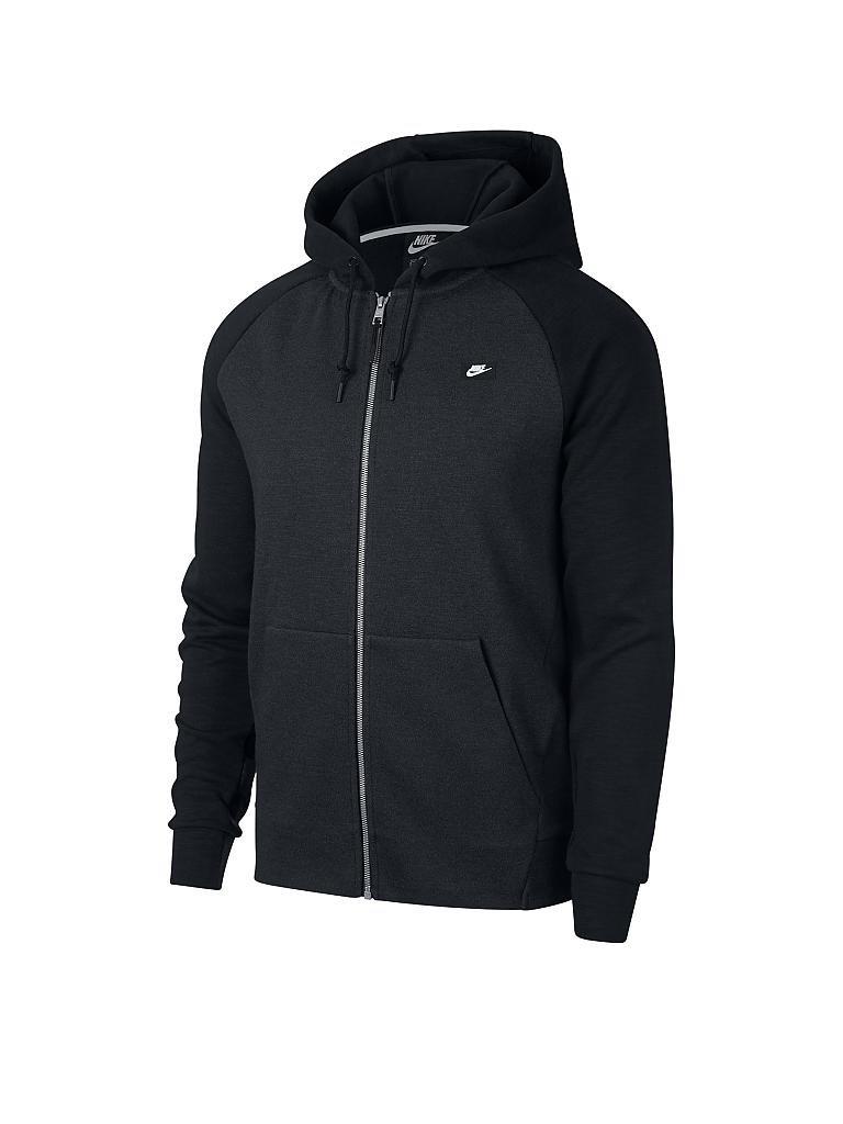 nike herren fitness weste optic hoodie fz schwarz s. Black Bedroom Furniture Sets. Home Design Ideas