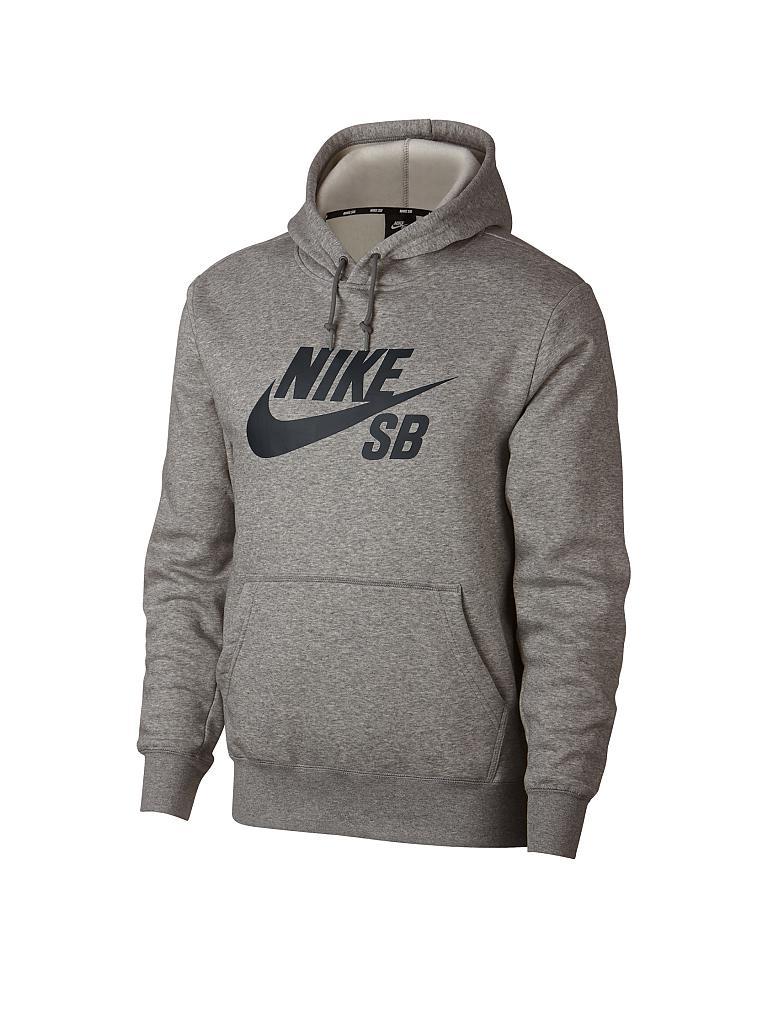 02f19c03c7a7 NIKE Herren Hoodie Nike SB Icon grau   M