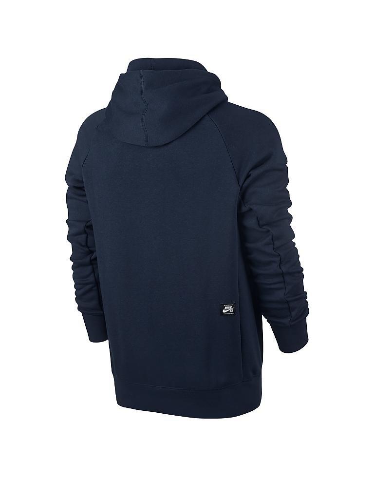nike herren hoodie nike sb icon blau s. Black Bedroom Furniture Sets. Home Design Ideas