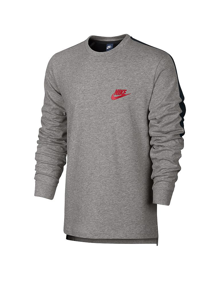 NIKE | Herren Sweater Long Sleeve Knit | grau