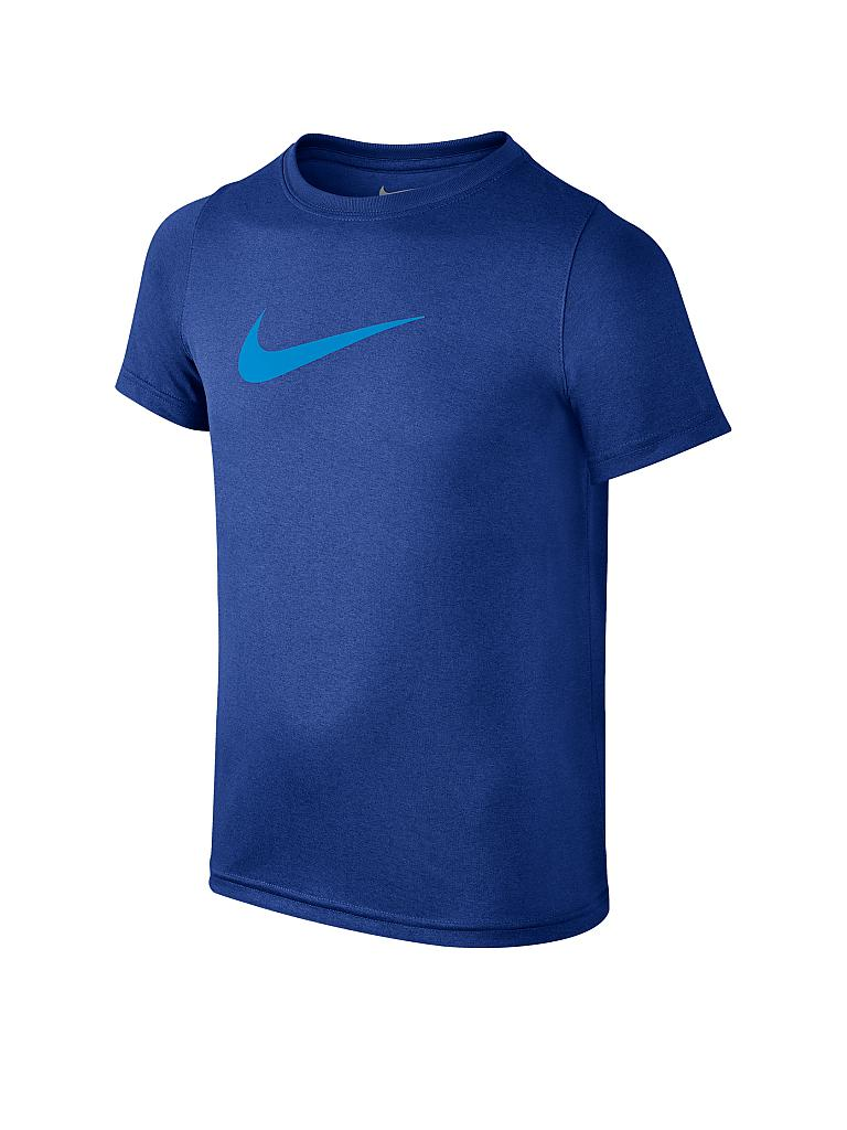 nike kinder t shirt dry swoosh solid blau xs. Black Bedroom Furniture Sets. Home Design Ideas