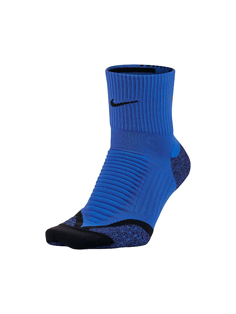 NIKE | Laufsocken Elite Cushion Quarter | blau