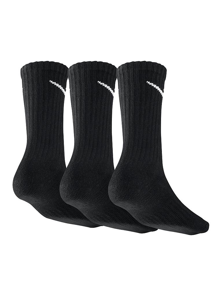 NIKE | Sportsocken Cotton Cushion Crew 3er | schwarz