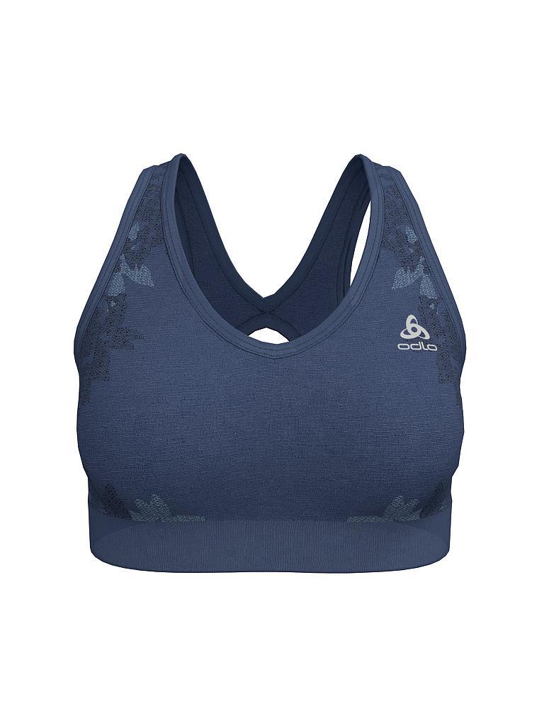 40b1fd2d71 ODLO Damen Sport-BH Blackcomb Seamless Medium Support blau