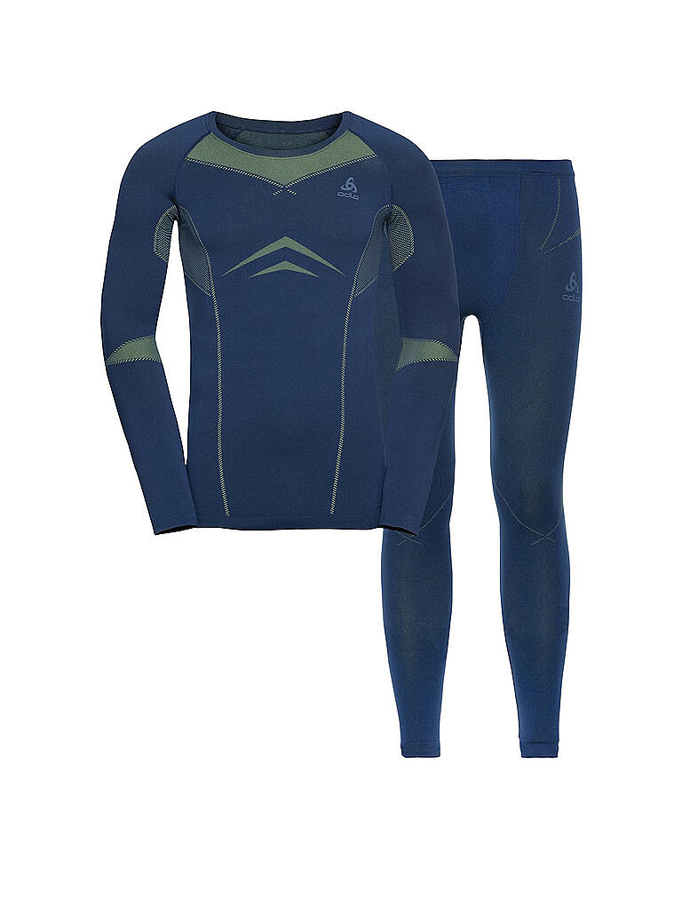 ODLO | Herren Funktionswäsche WINTER SPECIALS PERFORMANCE EVOLUTION WARM Baselayer-Set | blau