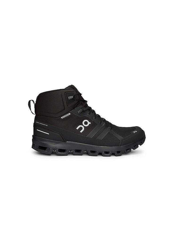 ON | Herren Wanderschuhe Cloudrock Waterproof All Black | schwarz