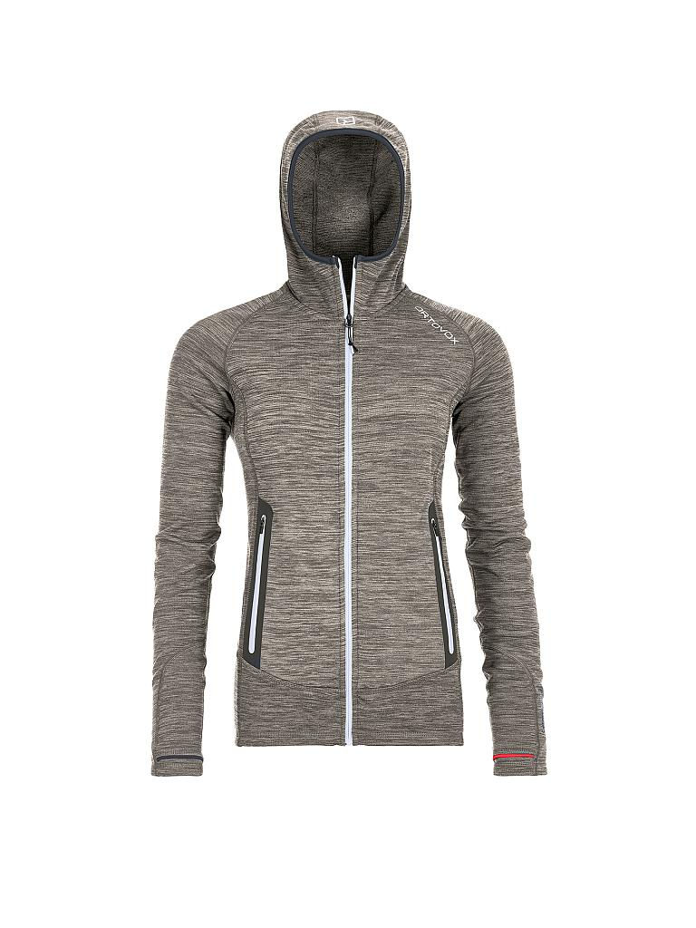 ORTOVOX | Damen Fleecejacke Fleece Light Melange Hoody | grau