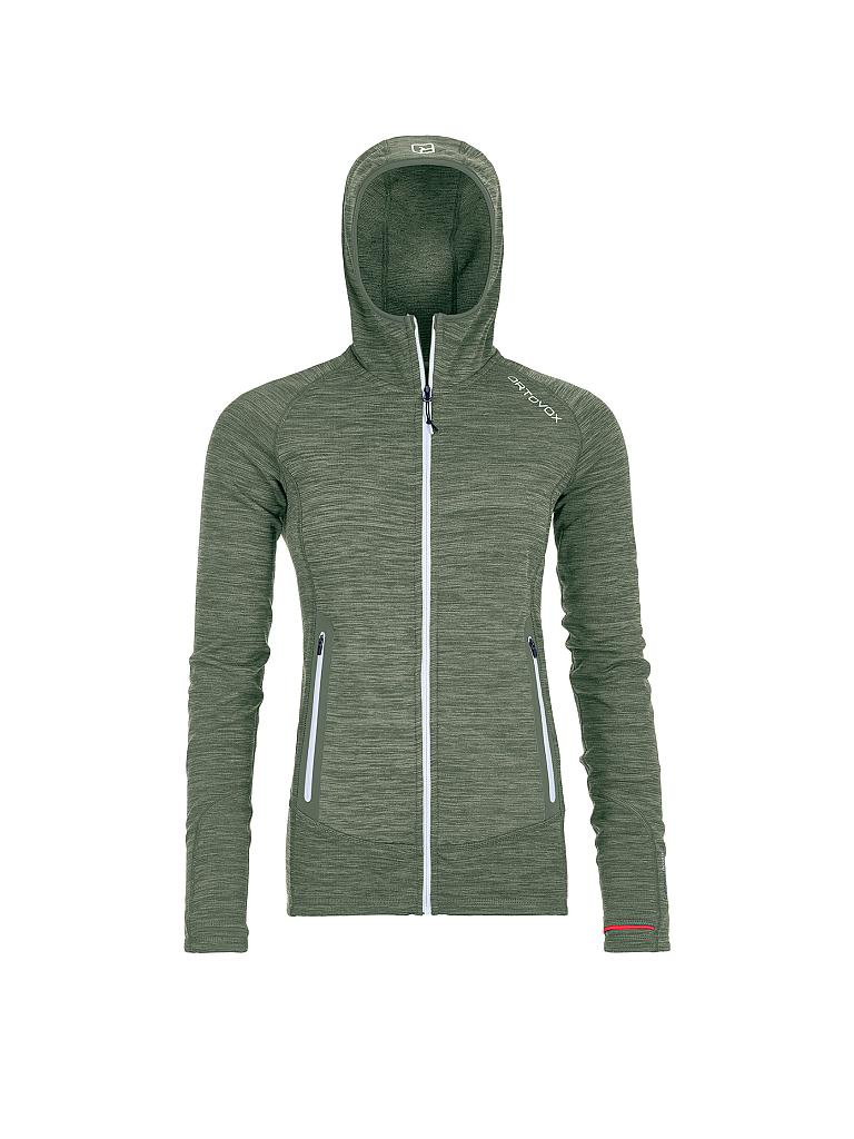 ORTOVOX | Damen Fleecejacke Fleece Light Melange Hoody | grün
