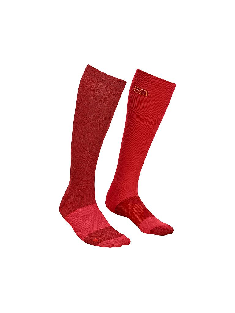ORTOVOX | Damen Tourensocken Tour Compression | rot